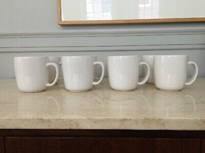 West Elm White Ceramic/Porcelain Mugs - Set of 8 - EUC