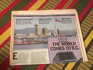 1986 Toronto Star feature section Expo 86 Vancouver