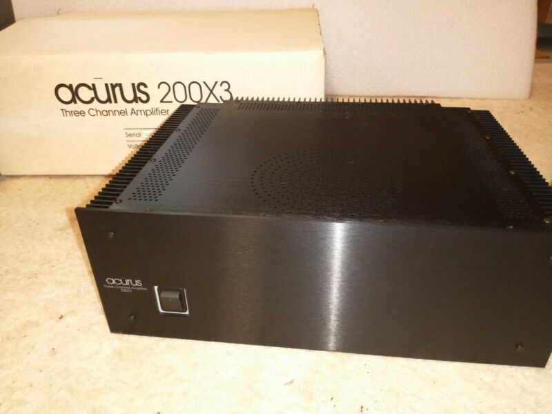 1 Acurus 200X3 3 Channel Amplifier (Working Original Box)