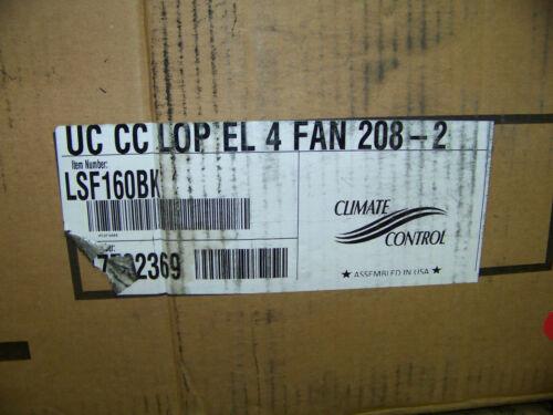 Heatcraft Climate Control Unit Cooler UC CC LOP EL 4 Fan 208-2 4 Fan LSF160BK