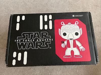 Funko Pop Star Wars Smuggler's Bounty Greedo Complete Box T-Shirt Size Medium