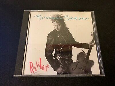 BRIAN SETZER [STRAY CATS] REBELENE MEGA RARE 1988 USA 1 TRK PROMO CD DPRO 04116