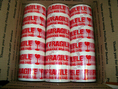 18 Rolls Fragile Carton Packingsealing Tape 2 X 55 Yards-165 Ft Ea Roll