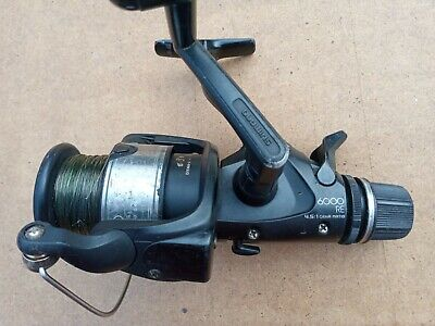 Shimano Aero 6000RE baitrunner fishing reel with line 3 of 3 Works without faul