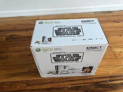 Microsoft Xbox 360 Kinect Star Wars Limited Edition 320GB  White Console Sealed