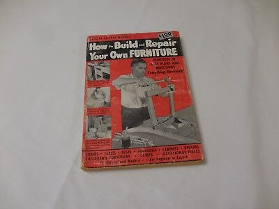How to Build and Repair Your Own Furniture  Popular Science 1951 Tables Cabinets