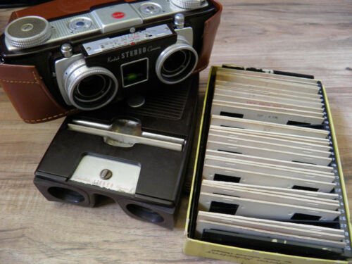 Kodak STERO Camera WITH Kodak Stereo Viewer 1 and Slides