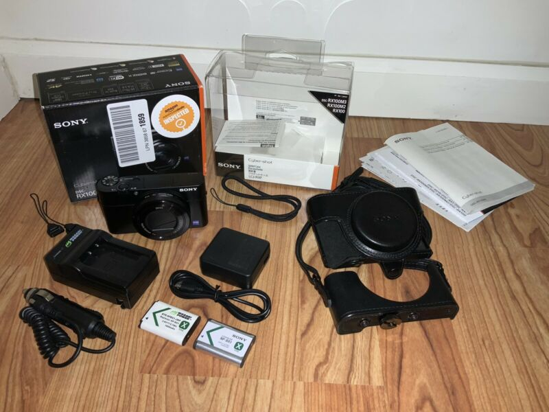 Sony DSC-RX100M3 Digital Camera With Case And Accessories, Excellent Condition