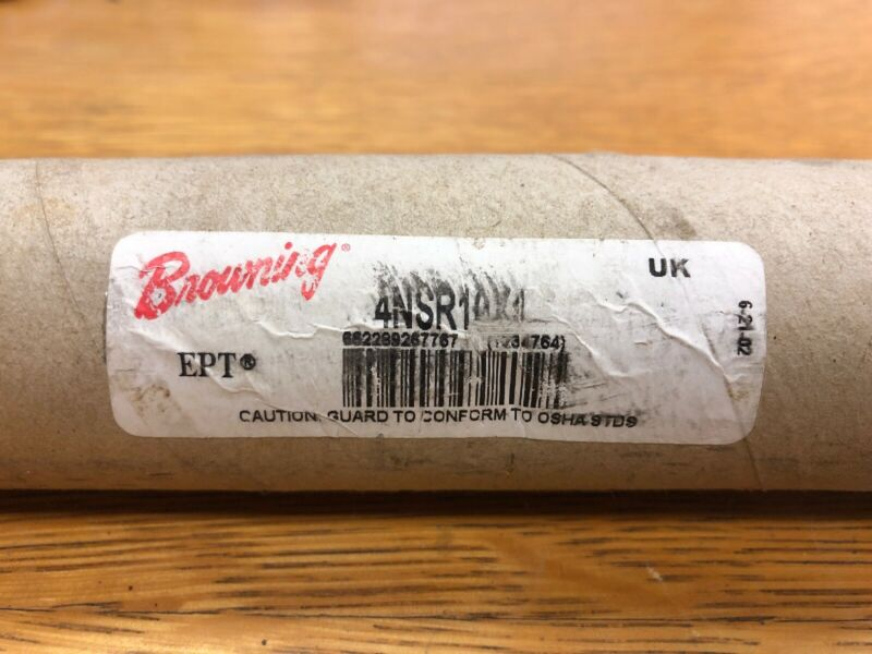 """Used? BROWNING 4NSR10 X 1"""" GEAR RACK, 10 PITCH, 4 FT L, 1"""" FACE, 1""""H."""