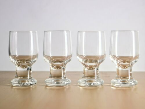 4 X Rare Iitala Joiku Cordial Glasses - Finland, Tapio Wirkkala, Scandinavian