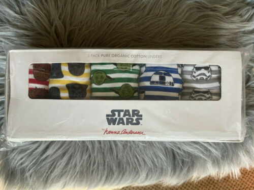 Hanna Andersson Boys sz XL- STAR WARS BOXER BRIEFS 6 PACK NEW-SEALED PACKAGE