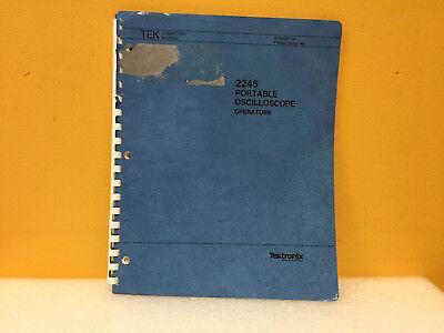 Tektronix 070-6187-00 2245 Portable Oscilloscope Operators Manual