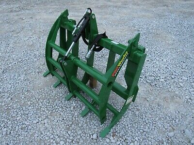 48 Compact Tractor Root Rake Clam Grapple Fits John Deere Front End Loader