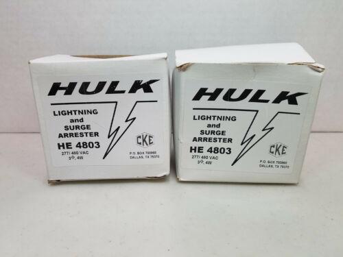Qty. 2, HVAC HE4803 Lightning and Surge Arrester 277/480VAC, 3Ø, 4W - NIB