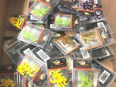 20 Pakete Konvolut Köder Forelle Iron Trout Micro Power Twister 4cm+5cm Bait