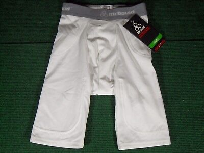 New Youth McDavid Pro Model 5 Pocket Compression Football Girdle Shorts White