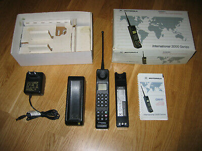 MOTOROLA International 3200 Vintage brick phone working Guarantee Complete Set