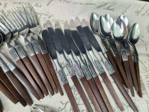 Vintage MCM Stainless Steel  EKCO Eterna LA Joya Flatware Utensils -32 Pieces