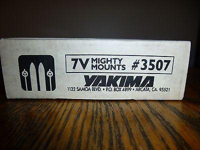 Used, NIB YAKIMA MIGHTY MOUNTS 7V #3507 BOX OF 4 ROOFTOP CAR ROOF MOUNT RACK SET SKI  for sale  Portland
