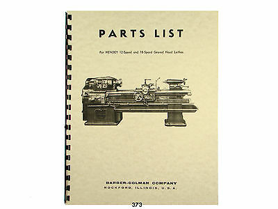 Hendey Lathe Attachments And Accessories Manual 1034
