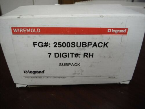 Lot of (10) WIREMOLD 2500SUBPACK