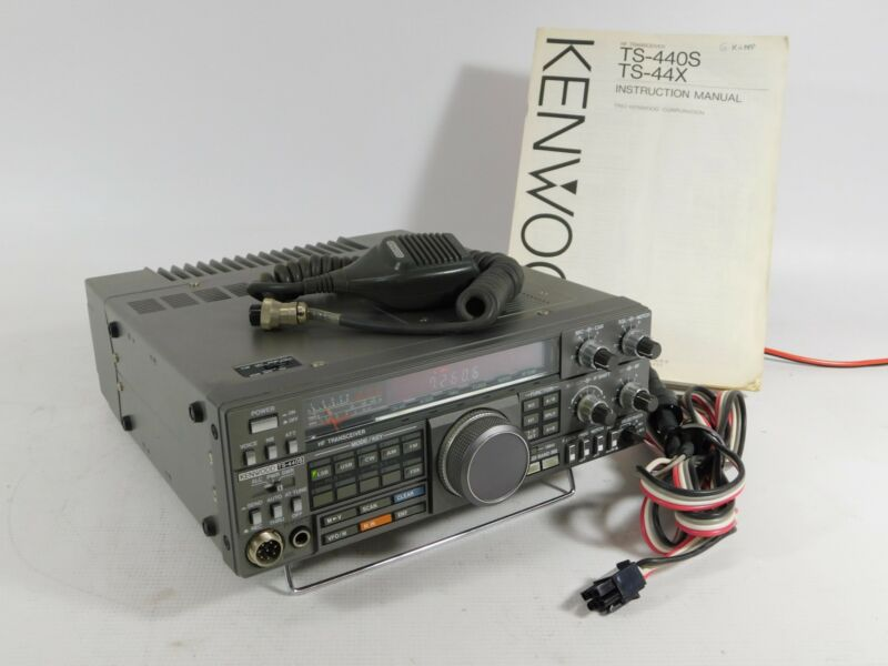 Kenwood TS-440S Ham Radio Transceiver w/ Mic + Cable + Manual (works great)
