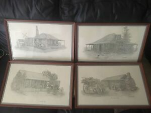 4x Lawrence Framed signed prints Carrum Kingston Area Preview