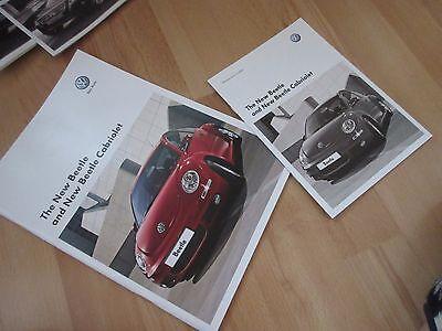 VW VOLKSWAGEN BEETLE AND BEETLE CABRIOLET SALES BROCHURE July 2008