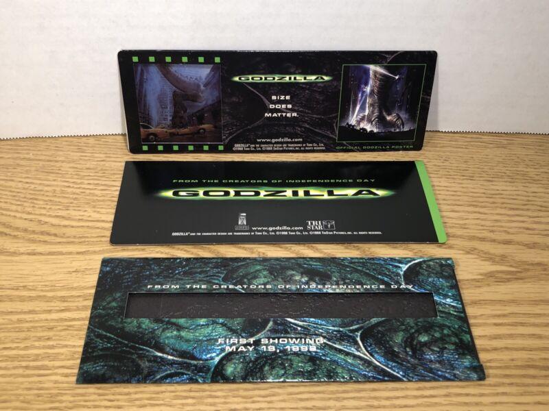 2x 1998 Tri Star Godzilla First Showing Movie Tickets Limited Edition , Rare!