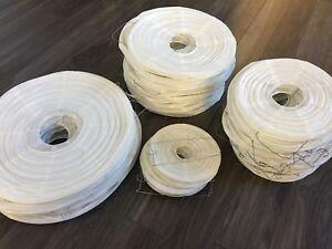 Lanterne chinoise blanche, lot de 70