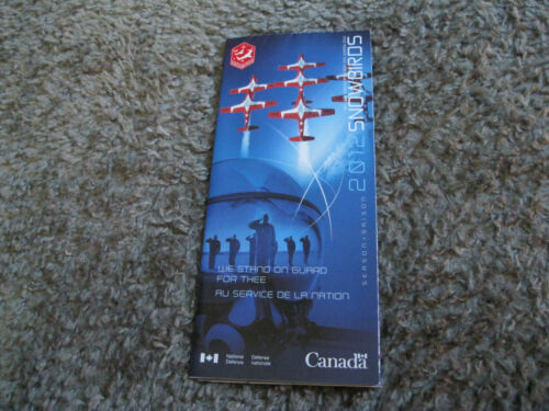 2012 Canadian Forces Snowbirds RCAF Airshow Demonstration Team Brochure Pamphlet