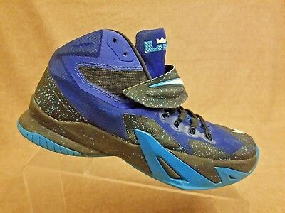 online store fcf09 8e4bd Nike 688579-414 LeBron James Soldier VIII Premium Blue Basketball Shoes Size  9.5