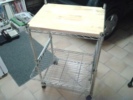 kitchen shelves/trolley on wheels Chermside Brisbane North East Preview