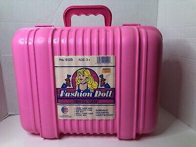 American Plastic Toys Inc Barbie Fashion Doll Travel Case #5125 New Pink
