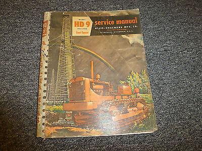 Allis Chalmers Hd9 Crawler Dozer Tractor Original Shop Service Repair Manual