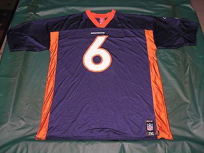 NFL Denver Broncos Jay Cutler #6 Adult 2XL Screen Print Football Jersey Adult Screen Printed Football Jersey