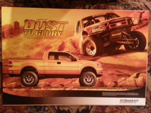 BF GOODRICH ORIGINAL SIGN  DUST TO GORY POSTER,FEATURING FORD BAJA OFF ROAD RACE