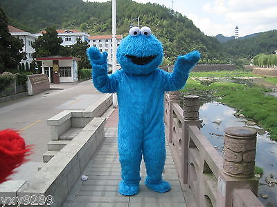 2018 Sesame Street Cookie Monster Adult Mascot Costume Suit Cosplay Dress Unisex