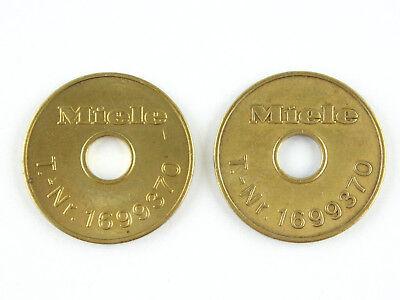 NEUE Miele Waschmarken Nr. 1699370 original 25 Stück