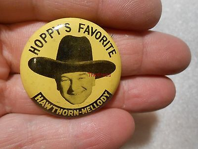 1950s Hoppy's Favorite Hawthorn Melody Milk Pinback