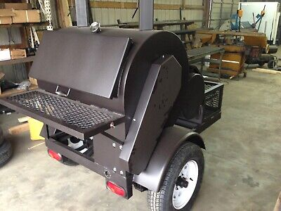 Semo Smokers Llc 30x36 Rotisserie Smoker Wtrailer Free Shipping To Lower 48
