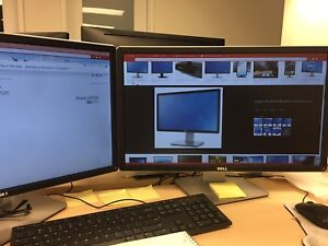 """2x Dell 24"""" WIDESCREEN Monitor! PERFECT FOR STREAMING / GAMING!"""