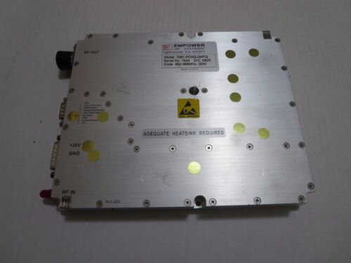 EMPOWER RF SYSTEMS 7061-PCM3J3KFQ 462-468 MHZ 30W POWER AMPLIFIER RF 7061