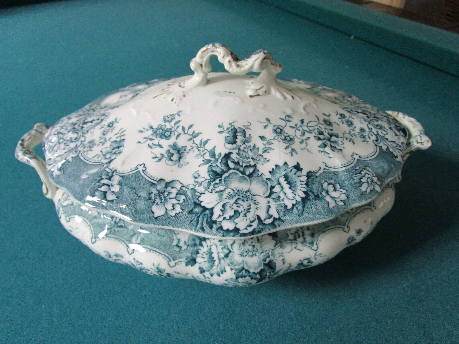 Ceramic Art Crown Pottery Covered Tureen Quot Ruskin Quot Stoke