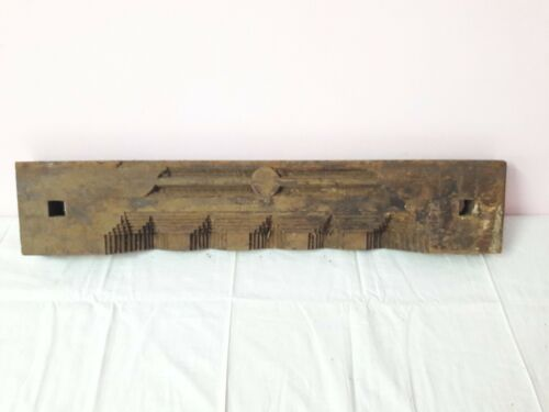 Antique Solid Beam Plaque Pillar Vintage Door Window Wooden Wall Panel A60