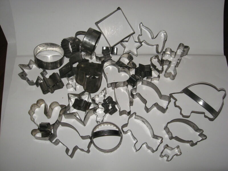 Vintage Lot Metal Cookie Cutters  - 39