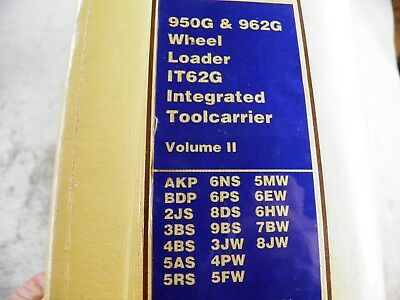 Cat Caterpillar 950g 962g It62g Wheel Loader Service Manual Volume 2 Akp Bdp