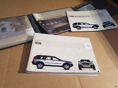 Volvo XC90 2.4 D5 Breaking - OWNERS MANUAL, WALLET AND LEAFLETS