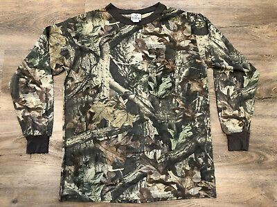 RED HEAD Open Pocket T-Shirt Realtree Camo Hunting Long Sleeve Sz L Men