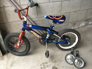 "Boys Hot Wheels 14"" bike"